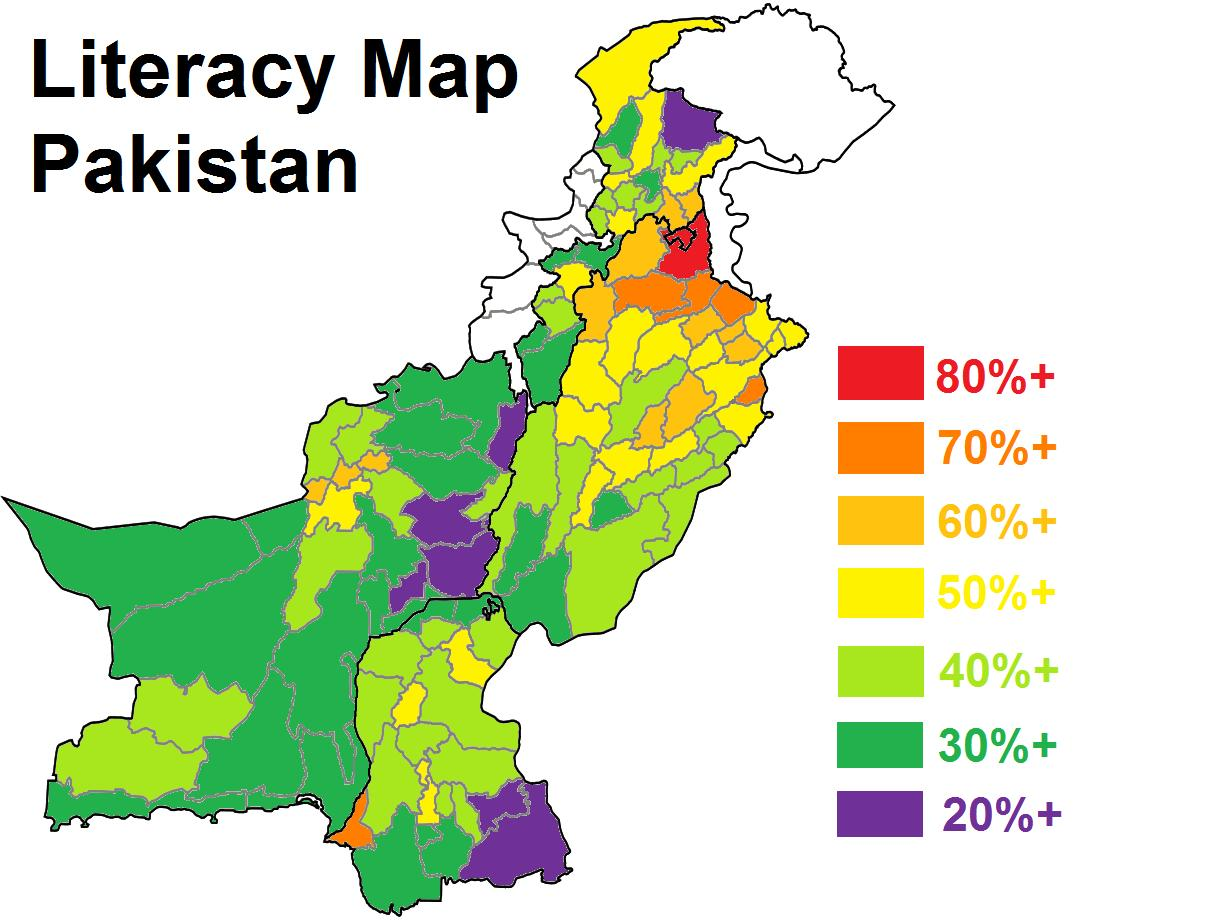 Literacy Rate Of Education In Pakistan - Major cities of pakistan map